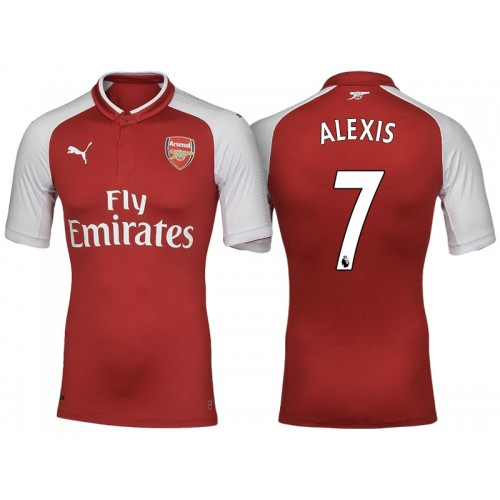 promo code 6d790 01289 Alexis Sanchez #7 Arsenal Red 2017-18 Home Authentic Jersey