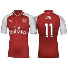 Mesut Ozil #11 Arsenal Red 2017-18 Home Replica Jersey