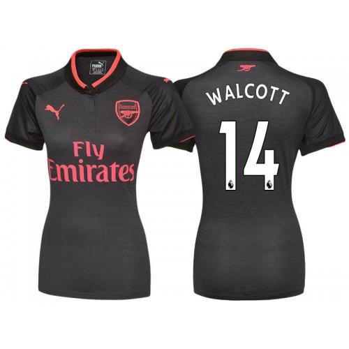 hot sale online 45af0 188d8 Women - Theo Walcott #14 Arsenal Black Third 2017-18 Replica ...