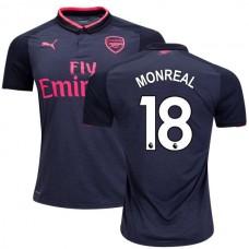 2017/18 Arsenal Nacho Monreal Authentic Dark Gray Third Jersey