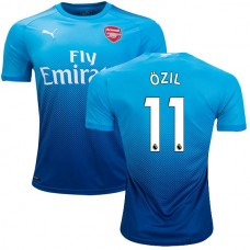 2017/18 Arsenal Mesut Ozil Navy & Light Blue Away Replica Jersey