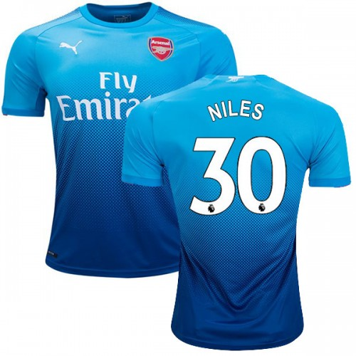 official photos 8a92f b6d1d Ainsley Maitland-Niles Authentic Away Arsenal Jersey 2017/18 ...