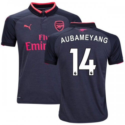 brand new 6f7d3 6068f Pierre-Emerick Aubameyang Authentic Third Arsenal Jersey ...