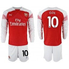 Arsenal #10 OZIL Home Shirt Long Sleeve 2018/19
