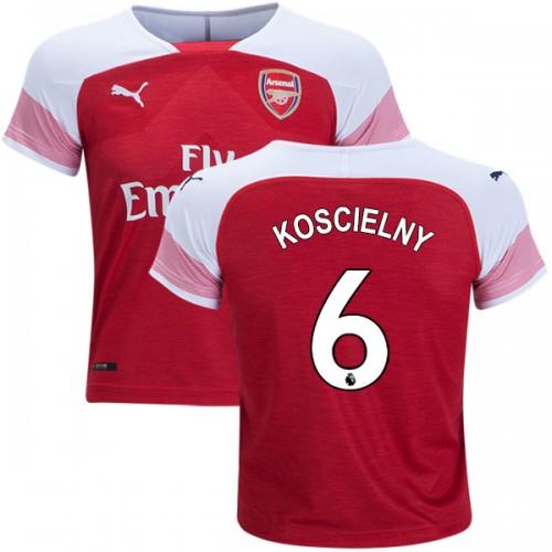 quality design c7437 2ddfc 2018-19 Kid's Laurent Koscielny Arsenal Home #6 Jersey Red ...