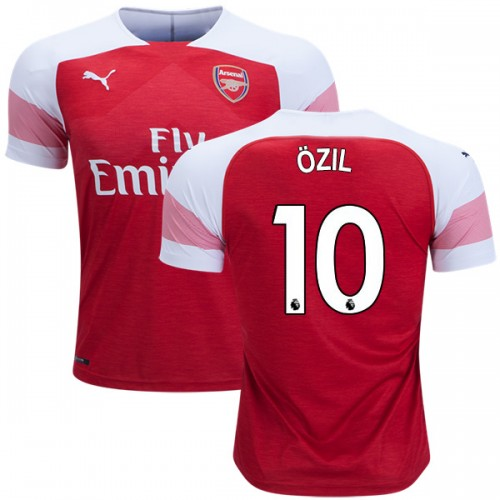 pretty nice 087d8 6b476 2018-19 Mesut Ozil Arsenal Home #10 Jersey Red White Authentic