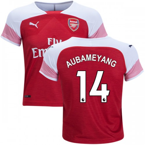 newest ca60a 5ad10 2018-19 Kid's Pierre-Emerick Aubameyang Arsenal Home #14 ...