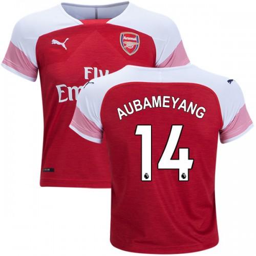 newest f07c4 a0116 2018-19 Kid's Pierre-Emerick Aubameyang Arsenal Home #14 ...