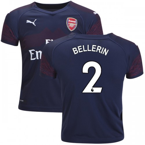 huge discount 431f3 37c7e 2018-19 Kid's Hector Bellerin Arsenal Away #2 Jersey Dark ...