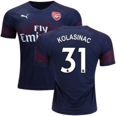 8137e5361 Arsenal Sead Kolasinac  31 Away Dark Blue Brown Authentic Jersey 2018 19