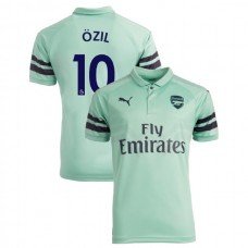 2018/19 Arsenal #10 Mesut Ozil Third Jersey Authentic Light Green