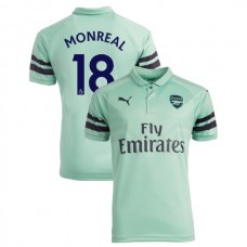 20d3e719896 2018 19 Arsenal  18 Nacho Monreal Third Jersey Authentic Light Green