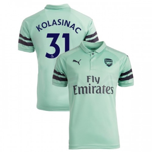 new concept 1403c 79f20 31 Sead Kolasinac Arsenal 2018-19 3rd Light Green/Blue ...