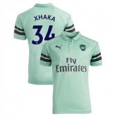 248e2770b12 2018 19 Arsenal  34 Granit Xhaka Third Jersey Authentic Light Green