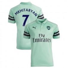 2018 19 Arsenal  7 Henrikh Mkhitaryan Third Jersey Authentic Light Green a5d325586