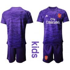 Youth Arsenal 2019/20 Purple Goalkeeper Soccer Jersey