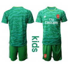Youth Arsenal 2019/20 Green Goalkeeper Soccer Jersey