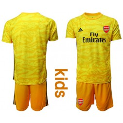 Youth Arsenal 2019/20 Yellow Goalkeeper Soccer Jersey
