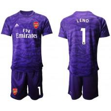 Arsenal 2019/20 #1 LENO Purple Goalkeeper Soccer Jersey