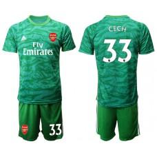 Arsenal 2019/20 #33 CECH Green Goalkeeper Soccer Jersey