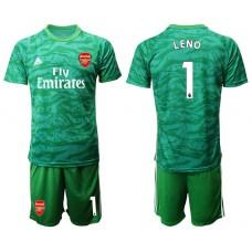 Arsenal 2019/20 #1 LENO Green Goalkeeper Soccer Jersey