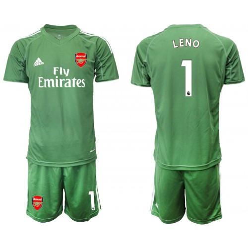 Arsenal 2019/20 #1 LENO Army Green Goalkeeper Soccer Jersey