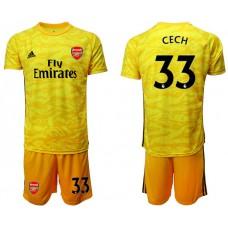 Arsenal 2019/20 #33 CECH Yellow Goalkeeper Soccer Jersey