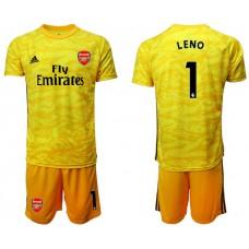Arsenal 2019/20 #1 LENO Yellow Goalkeeper Soccer Jersey