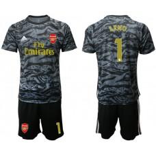 Arsenal 2019/20 #1 LENO Black Goalkeeper Soccer Jersey