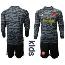 Youth Arsenal 2019/20 Black Long Sleeve Goalkeeper Soccer Jersey