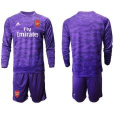 Arsenal 2019/20 Purple Long Sleeve Goalkeeper Soccer Jersey