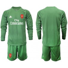 Arsenal 2019/20 Army Green Long Sleeve Goalkeeper Soccer Jersey