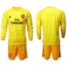 Arsenal 2019/20 Yellow Goalkeeper Long Sleeve Soccer Jersey
