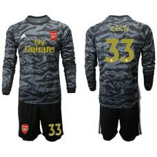 Arsenal 2019/20 #33 CECH Black Long Sleeve Goalkeeper Soccer Jersey