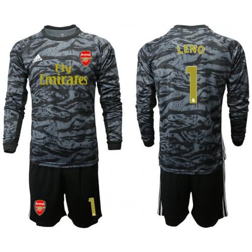 Arsenal 2019/20 #1 LENO Black Long Sleeve Goalkeeper Soccer Jersey