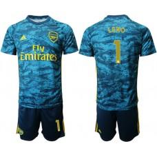 Arsenal 2019/20 #1 LENO Lake Blue Goalkeeper Soccer Jersey