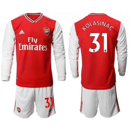 Arsenal 2019/20 #31 Home Long Sleeve Red Soccer Jersey