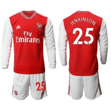 Arsenal 2019/20 #25 Home Long Sleeve Red Soccer Jersey
