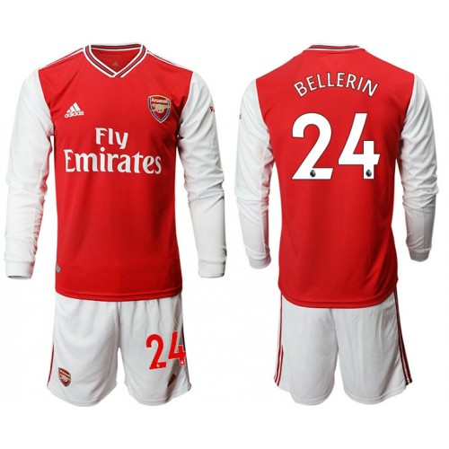 Arsenal 2019/20 #24 Home Long Sleeve Red Soccer Jersey
