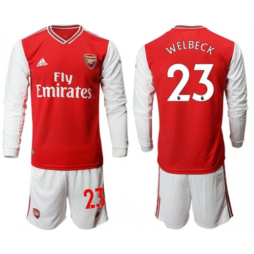 Arsenal 2019/20 #23 Home Long Sleeve Red Soccer Jersey