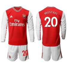 Arsenal 2019/20 #20 Home Long Sleeve Red Soccer Jersey