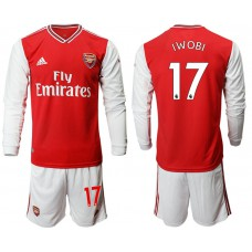 Arsenal 2019/20 #17 Home Long Sleeve Red Soccer Jersey