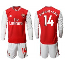 Arsenal 2019/20 #14 Home Long Sleeve Red Soccer Jersey