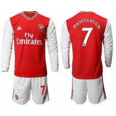 Arsenal 2019/20 #7 Home Long Sleeve Red Soccer Jersey