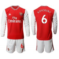 Arsenal 2019/20 #6 Home Long Sleeve Red Soccer Jersey