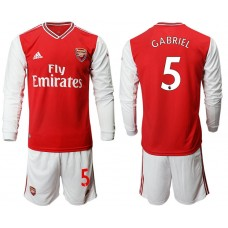 Arsenal 2019/20 #5 Home Long Sleeve Red Soccer Jersey