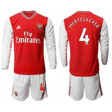 Arsenal 2019/20 #4 Home Long Sleeve Red Soccer Jersey