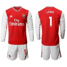 Arsenal 2019/20 #1 Home Long Sleeve Red Soccer Jersey