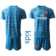 Youth Arsenal 2019/20 Blue Goalkeeper Soccer Jersey