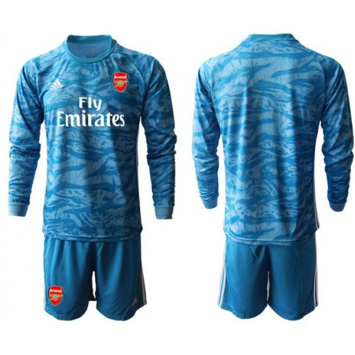Arsenal 2019/20 Blue Long Sleeve Goalkeeper Soccer Jersey